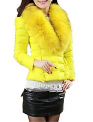 Новая осень зима женские короткие хлопка вниз перо пальто