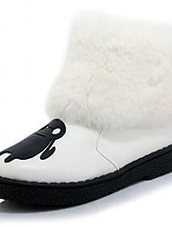 Feminino-Botas-Plataforma / Botas Montaria / Botas da Moda / Botas de Motocicleta / Conforto / Inovador / Botas de Cowboy / Botas de Neve