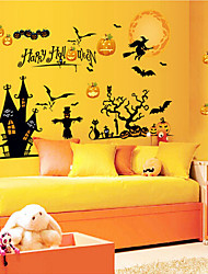 New arrival Halloween Pumpkin/Witch/Bat Wall Stickers Decal PVC Removable STICKER Home Decor