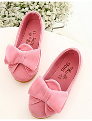 Flats Spring Fall Light Up Shoes PU Outdoor Flat Heel Bowknot Yellow Pink Fuchsia Other