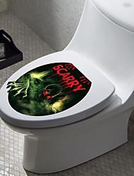 1шт творческой личности домашнего интерьера 3d Hallowmas туалетные наклейки