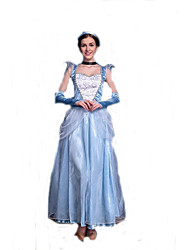Blue Fairy Tales Queen Cosplay Adult Elsa Costume for Halloween