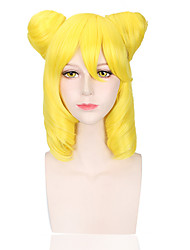 Yellow Color Women Cosplay Synthetic Wigs Glueless Fashion Wigs
