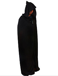 Performance Tops Unisex Performance Polyester Draped 1 Piece Black Performance Sleeveless High Cloak