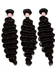 Tejidos Humanos Cabello Cabello Mongol Ondulado Medio 12 meses 3 Piezas los tejidos de pelo