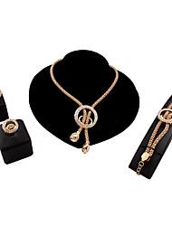Schmuck Halsketten / Ohrringe / Ringe / Armband Set Sexy / Modisch Hochzeit / Party / Alltag / Normal 1 Set Damen Goldfarben