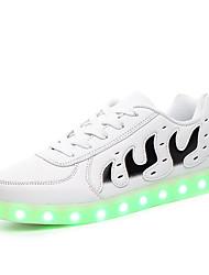 Unisexe-Extérieure / Décontracté / Sport-Noir / Blanc-Talon Plat-Confort / Nouveauté-Sneakers-Polyuréthane