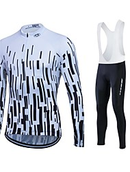 Sports Cycling Jersey Women's / Men's / Unisex Long Sleeve BikeBreathable / Thermal / Warm / Quick Dry / Fleece Lining / Moisture