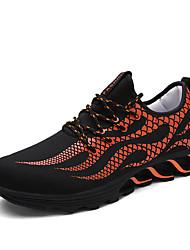Femme-Extérieure / Décontracté / Sport-Noir / Blanc / Orange-Talon Plat-Ballerines-Chaussures d'Athlétisme-Coton