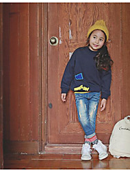 Girl's Casual/Daily Solid Hoodie & SweatshirtCotton Fall Blue
