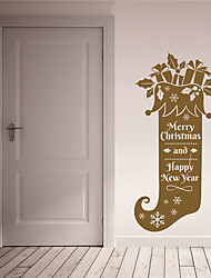AYA DIY Wall Stickers Wall Decals Merry Christmas and Happy New Year Stickers 40*88cm