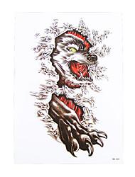 1pc Body Art Beauty Makeup Cool Tattoo Temporary Wolf Cloud Picture Design for Women Men Tattoo Sticker HB-322