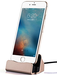 1 puerto USB Enchufe USA Base de Carga / Cargador portatil con cable For iPhone Metal Look Cool(5V , 2.1A)
