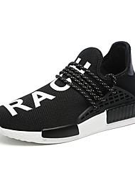 Femme-Sport-Noir / Bleu / Jaune / Rouge / Blanc-Talon Plat-Confort-Sneakers-Tulle