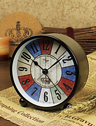 Alarm Clock with Matel Case Vintage Style