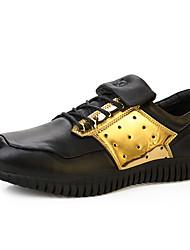 Femme-Décontracté-Noir / Blanc / Noir et blanc-Talon Plat-Confort / Bout Arrondi-Sneakers-Polyuréthane
