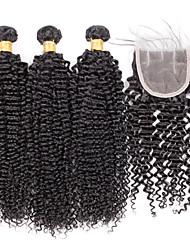 4 Peças Encaracolado Tramas de cabelo humano Cabelo Brasileiro 100grams 8inch to 30inch Extensões de cabelo humano