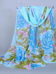 Bufanda Mujer Vintage / Bonito / Casual-Raso Estampado Rectángulo