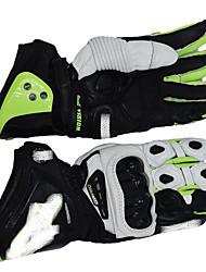 guantes de cuero pro po profesional de la motocicleta de carreras de motos montar guantes protectores