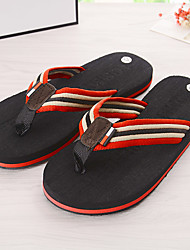 Men's Slippers & Flip-Flops Summer Slingback Rubber Casual Flat Heel Others Black Blue Others