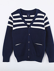Pull & Cardigan Boy Rayé Décontracté / Quotidien Coton Automne Bleu