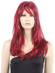 50cm Middle Long Wavy Burgundy Lolita Cosplay Wig Fashon Wine Red Japanese Anime Cosplay Wig Cheap Long Burgundy Wig