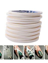 5pcs/lot 0.5cm Creative Double Nail Stickers Adhesive Glue Tape