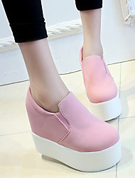 Women's Loafers & Slip-Ons Fall Platform Suede Casual Wedge Heel Platform Others Black Pink White Other