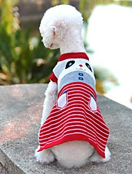 Cat / Dog Sweater / Vest Red / Blue / Pink / Gray Dog Clothes Winter Cartoon Cute / Casual/Daily