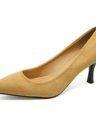 Damen-High Heels-Lässig-PU-Stöckelabsatz-Pumps-Blau / Gelb / Grün / Rot / Grau / Mandelfarben