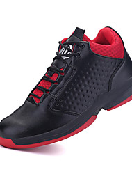 Men's Athletic Shoes Spring / Fall Comfort / Round Toe PU Athletic Flat Heel Lace-up Black / Red / White Basketball