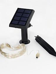 1pc 7.5m 60led Solar-Energie-String-Licht für Urlaub Partei Hochzeit führte Weihnachtsbeleuchtung