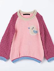 Pullover & Cardigan Lässig/Alltäglich Einfarbig Baumwolle Herbst