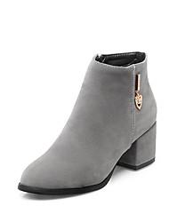 Damen-Stiefel-Kleid-Kunstleder-Blockabsatz Block Ferse-Modische Stiefel-