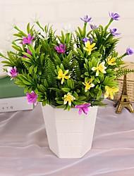 1 1 Ramo Plástico Orquideas Flor de Mesa Flores artificiais 38cm