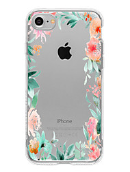 Para Funda iPhone 7 / Funda iPhone 7 Plus / Funda iPhone 6 Diseños Funda Cubierta Trasera Funda Flor Suave TPU para AppleiPhone 7 Plus /