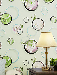 Non-Woven Bubble And Butterfly Wallpaper Design Modern Pastoral Flock 3D Wall Paper For Living Room Wallpapers
