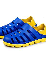 Черный Синий Коричневый Серый-Мужской-Для прогулок-Полиуретан ПВХ-На плоской подошвеСандалии