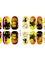 Fashion Charmming Halloween Noctilucent Witch Candy Nail Decal Art Sticker Gel Polish Manicure