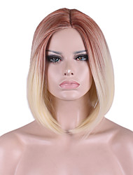New COS Wig BOBO Short Wig 12 Inch Golden Brown Gradient