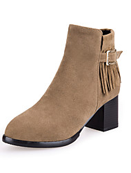 Damen-Stiefel-Büro / Kleid / Lässig-Lackleder / Kunstleder-Blockabsatz-Absätze / Pumps / Rundeschuh / Reitstiefel / Modische Stiefel /