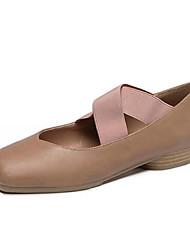 Homme-Sport-Noir / Kaki-Talon Plat-Confort-Chaussures d'Athlétisme-Similicuir