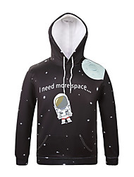 Inspired by3D Astronaut Long Sleeve  Hoodie Cosplay Hoodies Print Long Sleeve Coat Clothing Round Halloween