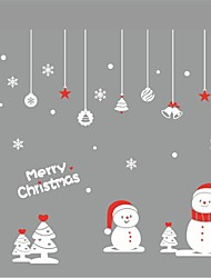 Diy Home Decor Snowflake Bells And Snowman Christmas Ball Wall Stickers Window Decoration Global