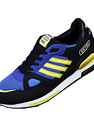 Men's Sneakers Spring / Fall Round Toe PU Casual Flat Heel Lace-up Blue / Yellow / Orange Sneaker