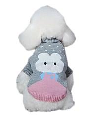 Katzen / Hunde Pullover / Kleider Grün / Blau / Grau Hundekleidung Winter / Frühling/Herbst Gepunktet / Tier / Tiaras & KronenCosplay /
