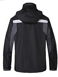 Escursionismo Giacche in softshell Per uomo Tenere al caldo / Indossabile Inverno Terylene Nero S / M / L / XL / XXL Campeggio e hiking-