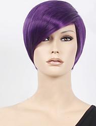 OHCOS Tokyo Ghoul Shuu Tsukiyama 11.81inches Short Purple Hair Synthetic Wig Cosplay Wigs