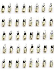 50pcs g4 24led smd3014 2w 90-110lm теплый белый / белый dc12v привел би-штыревые огни