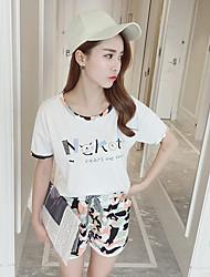 Women's Casual/Daily Simple / Cute Summer T-shirt